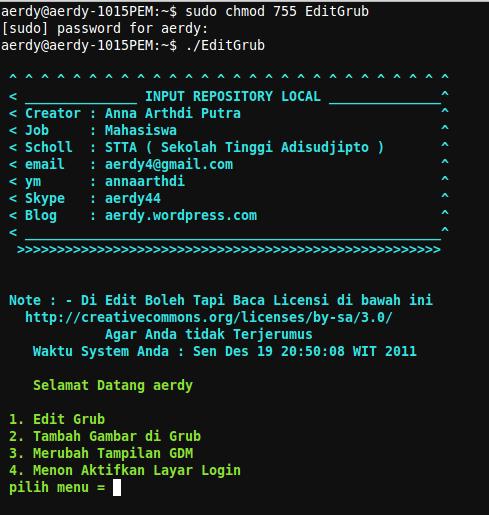 C Ana Arthdi Putra Contoh Script Buat Para Development Linux File Ini Adalah Public Domain Silahkan